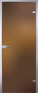 Двери стеклянные Light бронза матовое