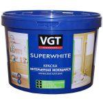 Краска ВД-АК-1180 для наружных/внутренних работ моющаяся, супербелая