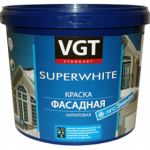 Фасадная краска ВД-АК-1180 на акриловой основе, зимняя, супербелая