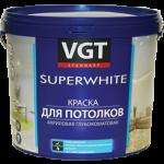 Краска ВД-АК-2180 для потолков, супербелая